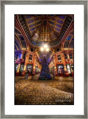 Christmas Tree Leadenhall London I Framed Print