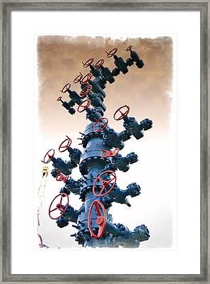 Christmas Tree - Impressions Framed Print by Ricky Barnard