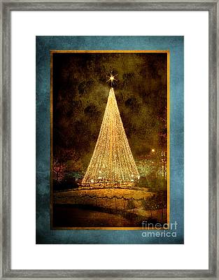 Christmas Tree In The City Framed Print by Cindy Singleton