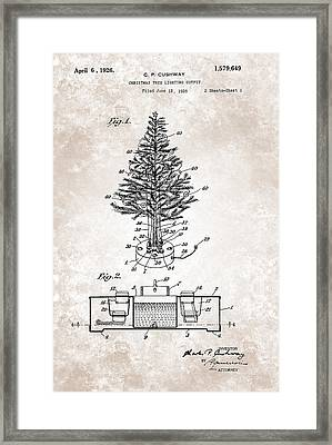 Christmas Tree Lighting Outfit Patent From 1926 Framed Print by Celestial Images