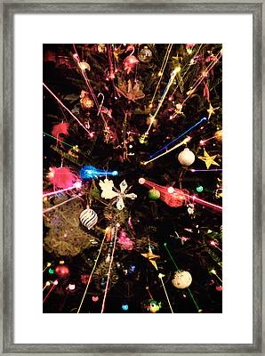 Framed Print featuring the photograph Christmas Tree Lights by Vizual Studio