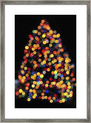Christmas Tree Lights Framed Print by Terry DeLuco