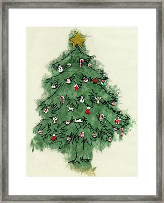 Christmas Tree Framed Print by Mary Helmreich