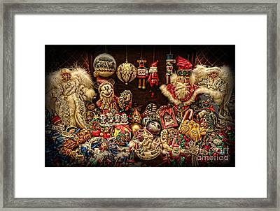 Christmas Tree Ornaments Framed Print by Lee Dos Santos