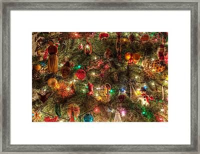Christmas Tree Ornaments Framed Print by Sonny Marcyan