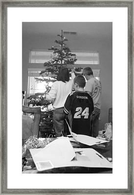Christmas Tree Prep Framed Print