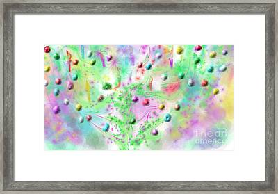 Christmas Tree Framed Print by Rosana Ortiz