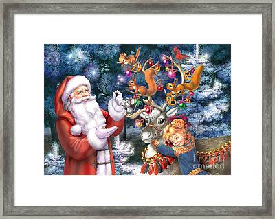 Christmas Tree-rudolph Framed Print by Zorina Baldescu