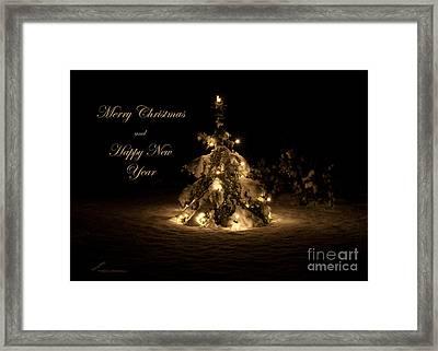 Christmas Tree Framed Print by Torbjorn Swenelius