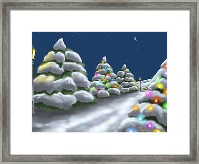 Christmas Trees Framed Print by Veronica Minozzi