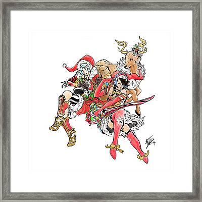 Christmas Trio Framed Print by Miguel Karlo Dominado
