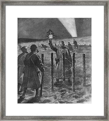 Christmas Truce In 1914, World War I Framed Print by British Library