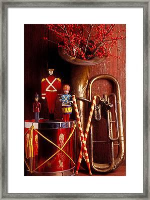 Christmas Tuba Framed Print by Garry Gay