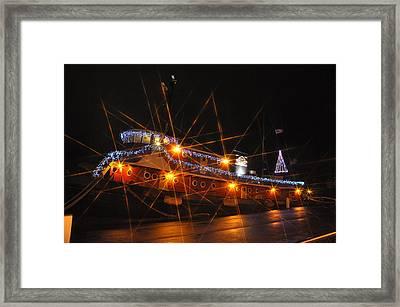 Christmas Tug Boat Framed Print
