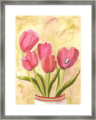 Tulip Time Framed Print by Mickey Krause