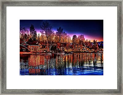 Christmas Twilight Framed Print by Cary Shapiro