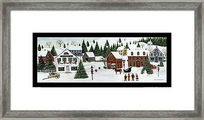 Christmas Valley Village Framed Print