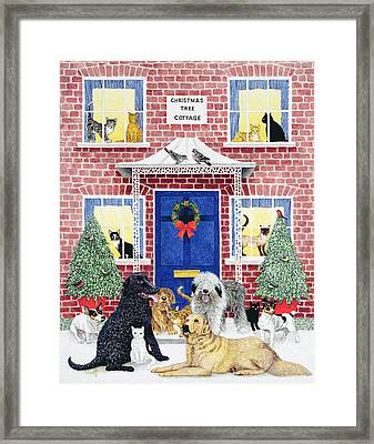 Christmas Warmth Oil On Canvas Framed Print by Pat Scott