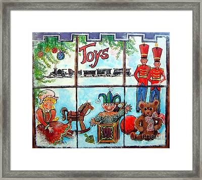Framed Print featuring the painting Christmas Window by Linda Shackelford