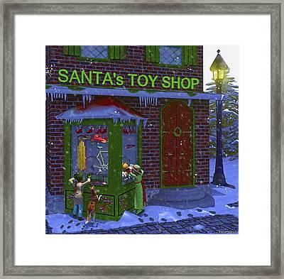 Christmas Window Shopping Framed Print by Ken Morris