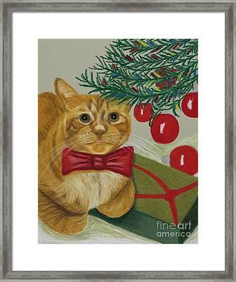 Christmas With Rufus Framed Print