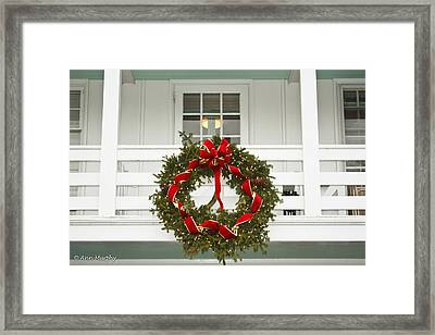 Framed Print featuring the photograph Christmas Wreath by Ann Murphy