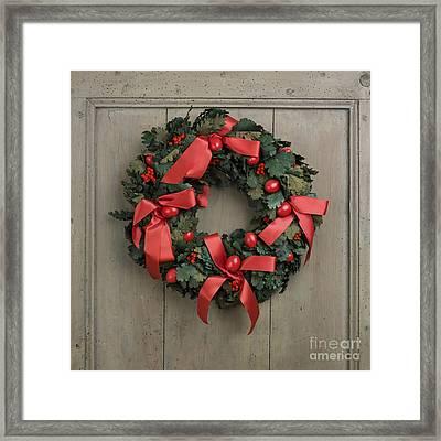 Christmas Wreath Framed Print by Bernard Jaubert