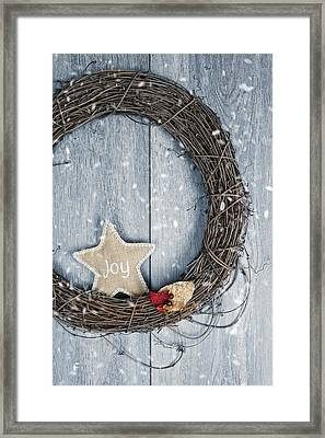 Christmas Wreath Framed Print by Amanda Elwell