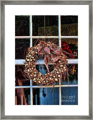 Christmas Wreath Framed Print by Darren Fisher