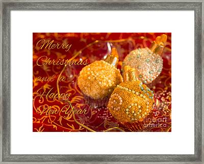 Christmasball Cupcakes Framed Print by Iris Richardson