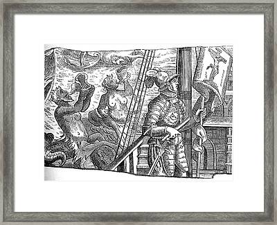 Christopher Columbus Framed Print by Collection Abecasis