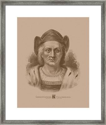 Christopher Columbus Framed Print by War Is Hell Store