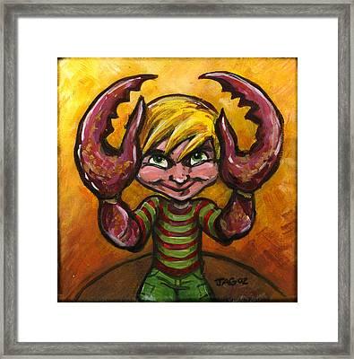 Christopher Crab Framed Print by John Ashton Golden