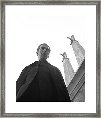 Christopher Lee In Dracula: Prince Of Darkness  Framed Print