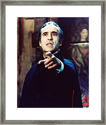 Christopher Lee In Taste The Blood Of Dracula  Framed Print