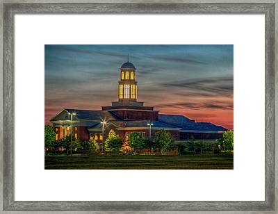 Christopher Newport University Trible Library At Sunset Framed Print