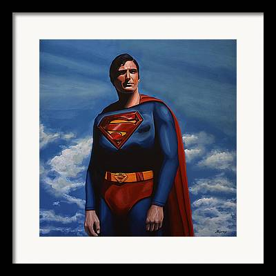 Lex Luthor Paintings Framed Prints