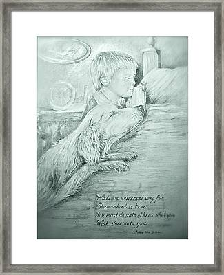 Framed Print featuring the painting Christopher Robert And Shala by Patricia Schneider Mitchell