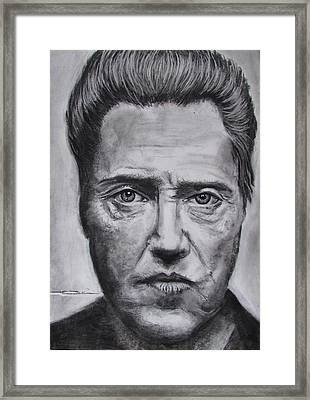 Christopher Walken Framed Print