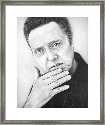 Christopher Walken Framed Print by Olga Shvartsur