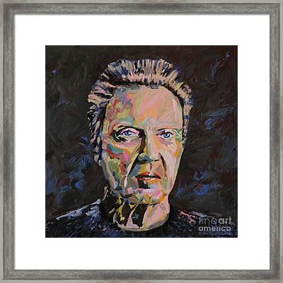 Christopher Walken Portrait Framed Print