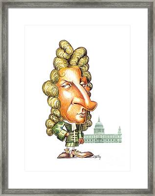 Christopher Wren, English Architect Framed Print by Gary Brown