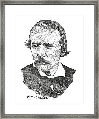 Christopr Kit Carson Framed Print