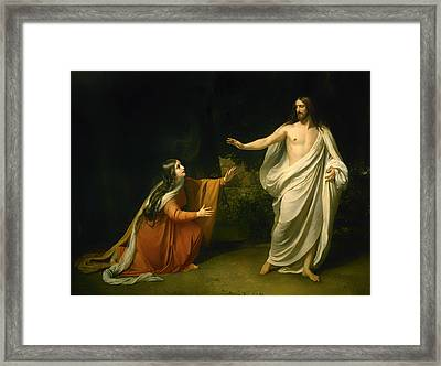 Christs Appearance To Mary Magdalene After The Resurrection Framed Print by Alexander Andreyevich Ivanov