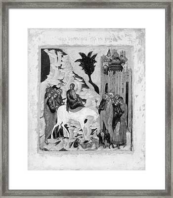 Christs Entry Into Jerusalem Framed Print