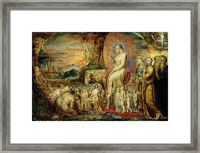 Christs Entry Into Jerusalem Framed Print by William Blake