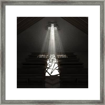 Christ's Light In The Dark Framed Print