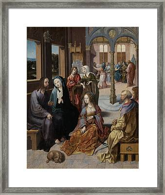 Christ's Second Visit To The House Of Mary And Martha Framed Print