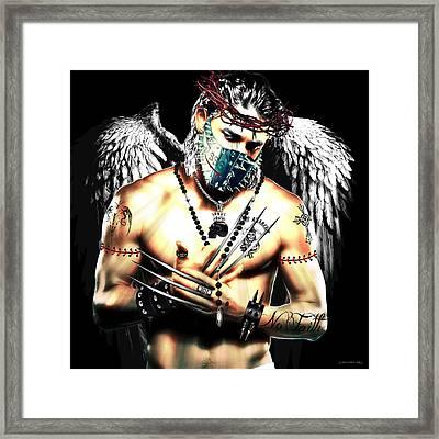 Christy Angel Mask Framed Print