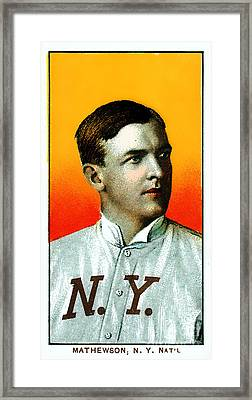 Christy Mathewson New York Giants Baseball Card 0100 Framed Print by Wingsdomain Art and Photography